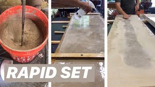 DIY CONCRETE COUNTER TOPS (ready In 1 Hour)