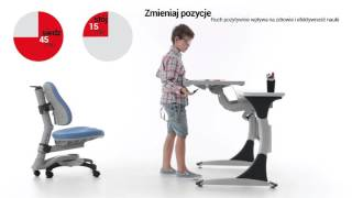 Детский стол-трансформер KD-333 Гарвард, Comf-Pro от компании Парта трансформер - видео