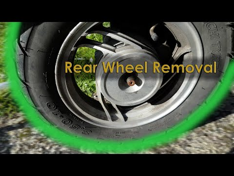 Rear Wheel Removal / Install on a 4 Stroke Chinese Scooter - JINLUN