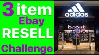3 ITEM FLIP CHALLENGE AT ADIDAS || EBAY RESELL GOD