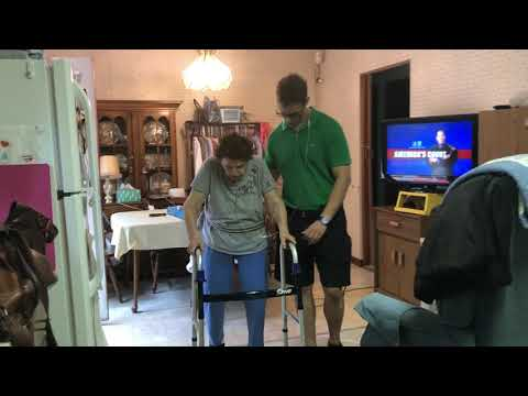 Charles 100 Year old patient exercising!