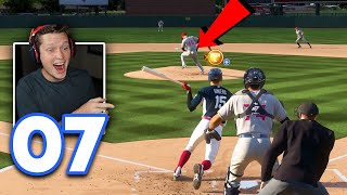 MLB 21 Road to the Show - Part 7 - INJURING THE OPPOSING PITCHER 😂