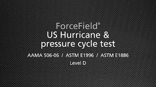 US Hurricane & pressure cycle test (AAMA 506-06/ASTM E1996/ASTM E1886)