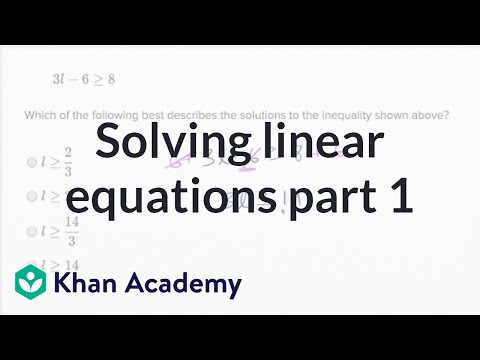 solving linear equations and linear inequalities basic example