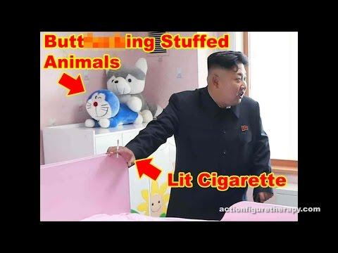 Kim Jong-Un Stuffed Animal Sex Photobomb