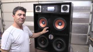 DIY. How To Build 42x32 Inch (107x81)cm Boombox With Touch Screen  Car Stereo