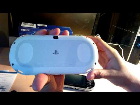 Glacier White Playstation Vita Unboxing