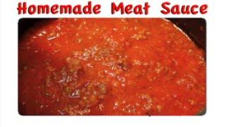 Homemade Meat Sauce Recipe - Freezer Meals- I Heart Recipes