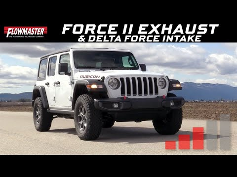 Flowmaster Delta Force Performance Air Intake & Force II Axle-back for 2018 Jeep Wrangler JL w/ 3.6L