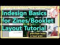 BASIC Indesign for Zines and Booklets Layout Tutorial   home or laser printing   olivia and pindot