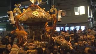 平成28年 世田谷<瀬田・玉川神社>例大祭 玉川町会神輿=還御・着與