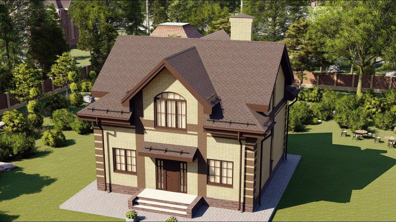 Проект дома из пеноблока с тремя спальнями
