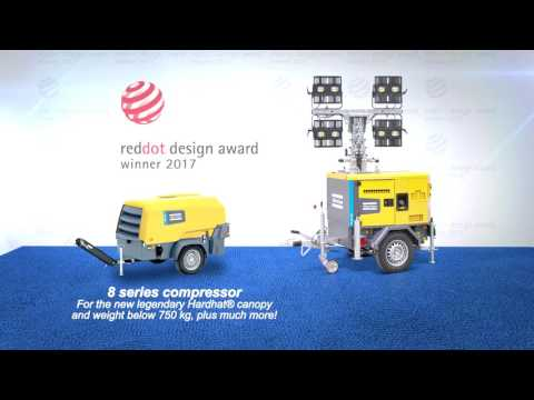 Atlas Copco portable compressors and LED light tower receive prestigious Red Dot Design Awards - zdjęcie