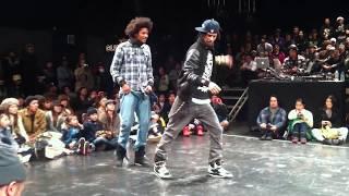 Juste Debout Japon LES TWINS best8 2011. 1. 11 tokyo hip hop