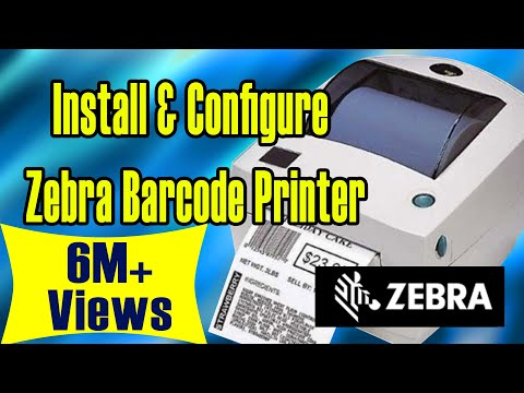 How to Install and Configure zebra barcode printer