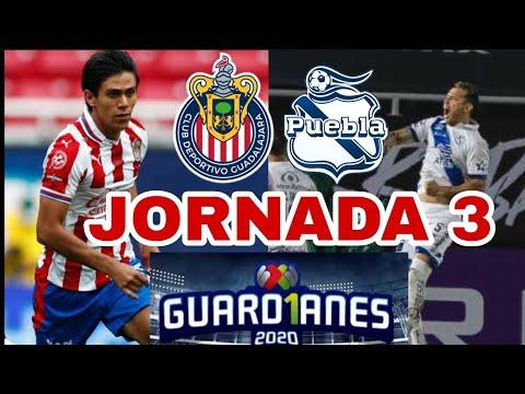 Chivas vs Puebla Jornada 3 Liga MX Guardianes 2020.