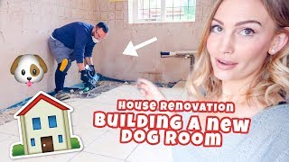 BUILDING A DOG ROOM (Home Renovation)
