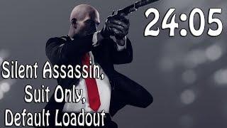 Hitman 2 (2018) Speedrun in 24:05 | Silent Assassin, Suit Only, Default Loadout @Elajjaz