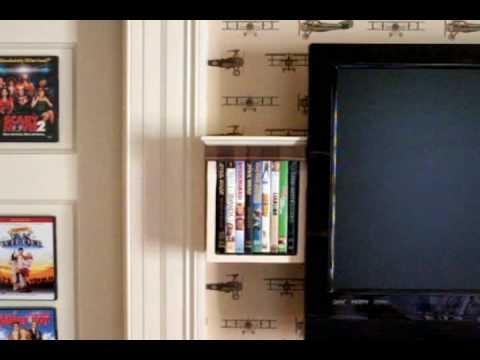 DIY Hidden DVD Cabinet