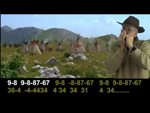 nº 303 Winnetou - tablatura armonica diatonica ( D ) mundharmonika lernen
