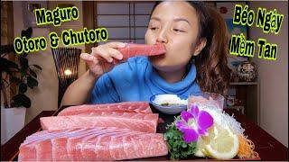 Chén Nhẹ Nguyên Tảng Sashimi Cá Ngừ Vay Xanh Maguro Otoro&Chutoro Tưởng Ko Ngon Mà Ngon Ko Tưởng#407