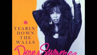 "DONNA SUMMER - TEARIN' DOWN THE WALLS - WEA 1987 - UK - B-side to the 12"" single"