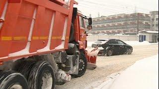 Первый серьезный снегопад принес большие проблемы новгородцам