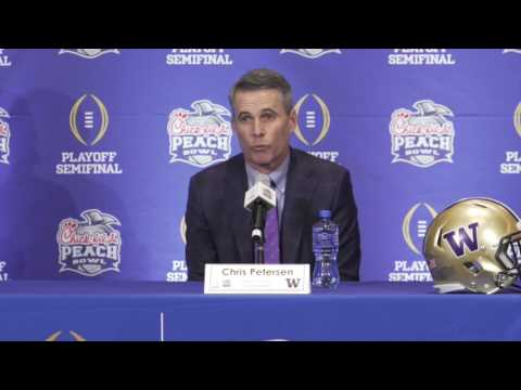 Nick Saban + Chris Petersen hold final Peach Bowl press conference