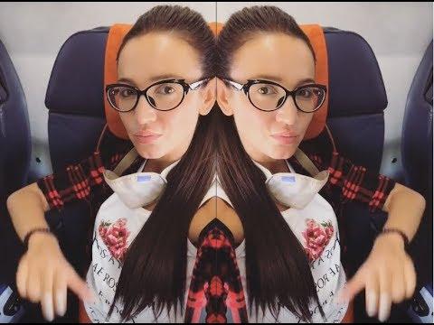Ольга Бузова показала как она спит в самолете ))