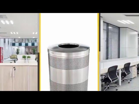 Product video for Dimension Hinged Top 48 Gal Black Gloss With Anthracite Metallic Perforated Panels