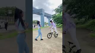 Super Bmx Rider | Cycle Stunt best Girl Cycle Stunt | Bmx Rider | WhatsApp status video😱#short