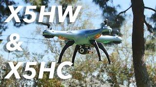 Syma x5HW , סרטון המציג את בקר מייצב הטיסה האוטומטי שלו