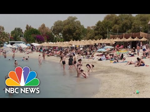 Beaches In Europe Use Drones And Plexiglass To Keep Visitors Safe | NBC News NOW