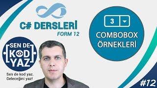 12-C# Combo Box Örnekleri? (selectedindexchanged Kullanımı), C# Form Dersleri