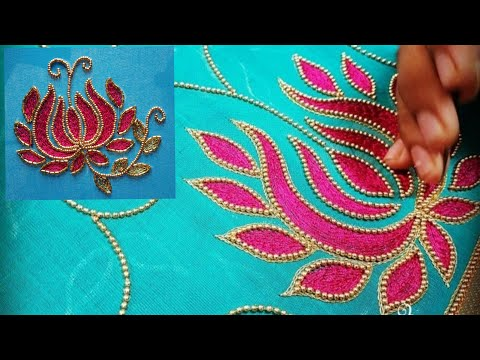 Blouse Design With Mat Filling Stitch | Aari Maggam Works
