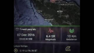 Gempa Aceh 64 Sr  7/12/2016 0530 Wib  Pray For Aceh