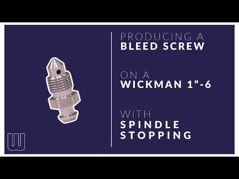 Bleed screw - Wickman 1-6 stopper