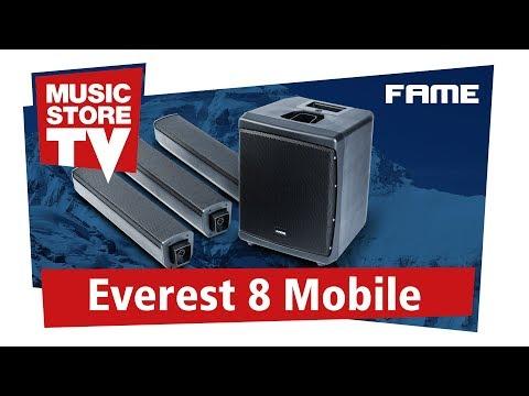 FAME Everest 8 Mobile PA-System mit Akku und Bluetooth