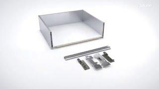 Wysoka szuflada wewnętrzna LEGRABOX Blum z elementem dekoracyjnym
