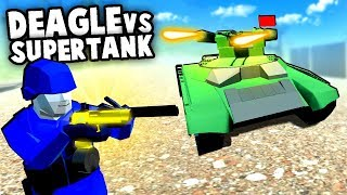 GOLDEN Desert Eagle vs The Most ADVANCED TANK EVER MADE! (Ravenfield Best Mods Gameplay)