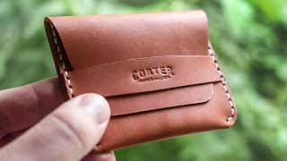 Making A Leather Flap Wallet (FREE PATTERN!)