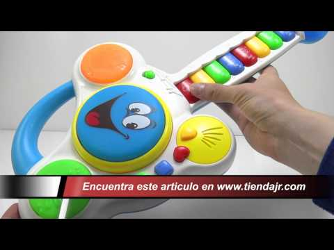Guitarra Didactica Musical Juguetes Para Bebes Animales Luces y Canciones