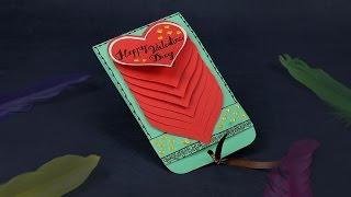 Handmade Valentine Cards - DIY Waterfall Card Tutorial