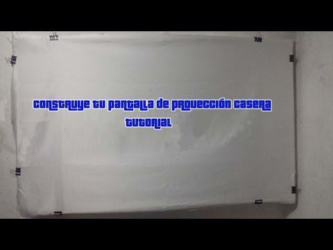 Tutorial construye tu pantalla para proyector casera