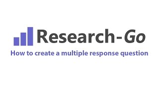 How to create a multiple response question