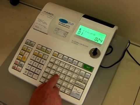 How To Program Shop Name On Till Receipt Casio SE-S300 / SE-S2000 / PCR-T2100 / PCR-T2200