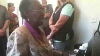 Madame Andrews sings Jesus is on the Mainline