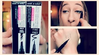 $2.99  BEST Felt Tip Liner NEW Wet'n'wild ProLine Felt Tip Liner Review and Demo