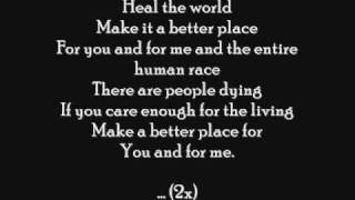 Michael Jackson - Heal The World ( Letra )