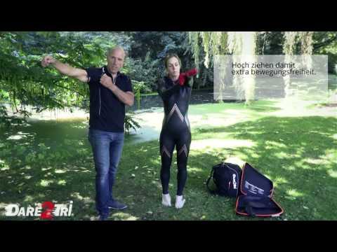 Neopren Anzug richtig anziehen und schneller Schwimmen - Dare2Tri